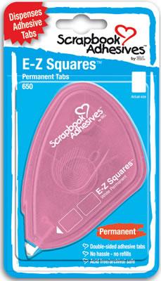 JAV-EZ Squares Adhesive Tabs 650