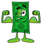 24609-clip-art-graphic-of-a-flat-green-dollar-bill-cartoon-character-flexing-his-arm-muscles-by-toons4biz